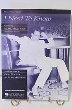 I Need to Know (Marc Anthony) Piano/Vocal/Guitar Sheet Music 1999