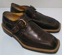 Antonio Maurizi 'Dante' Bourbon Brown Leather Oxford Shoes Size 42