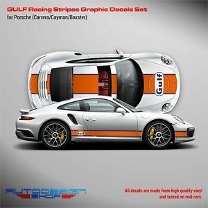 GULF Le Mans Racing Stripes kit for Porsche Carrera / Cayman / Boxster