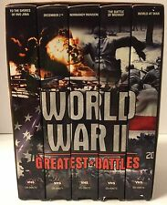 World War II: Greatest Battles - 5-Pack (VHS, 2002, 5-Tape Set)
