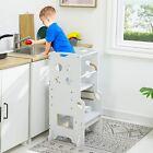 Height Adjustable Kid Helper Stool Durable Toddler Tower For Kitchen Step Ladder
