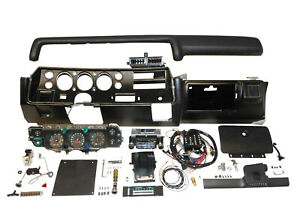 1972 Chevelle SS Dash Kit Tach Gauges Radio with Air Cond Super Sport Conversion