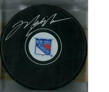Mark Messier Autographed New York Rangers Hockey Puck (Steiner COA)