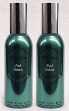 2 Bath Body Works FRESH BALSAM Mini Room Spray Perfume Air Freshener 1.5 oz