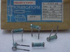 5x KBG-I --( 0.015uF 10%, 400V )-- Ceramic PIO Capacitors КБГ-И NOS Made in USSR