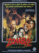 ZOMBIE Affiche Cinéma ROULEE 53x40 Movie Poster ROMERO DAWN OF THE DEAD