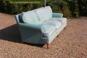 Large George Smith Signature Scroll Arm Cushion Back 3 seater sofa RRP £7k