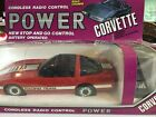 Vintage 1986 Road Champs Power Corvette Cordless Radio Control Battery Op BOXED