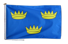 More details for munster ireland flag with rope and toggle - various sizes