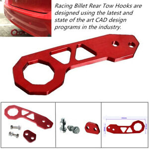 Red Racing Billet Aluminum Rear Tow Hook Cool Fit For Honda Civic Integra Rsx 2U