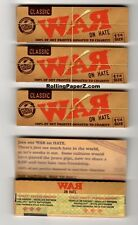 "4 PACKS ""WAR on Hate"" 1 1/4 Rolling papers by RAW Limited Edition Collectible"
