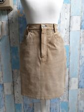 Vintage United Colours of Benetton (Blue Family) Suede Skirt. Size 10