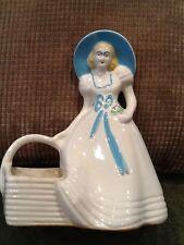 Hull Art USA 954 Blue Bonnet Girl with planter Basket  Vintage
