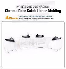 Door Handle Catch Chrome Bowl Cover 4P Set Fit HYUNDAI 2011 - 2014 YF Sonata i45
