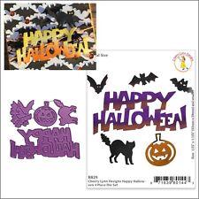 Happy Halloween Metal Die set Cheery Lynn Cutting Dies B829 cat words pumpkin