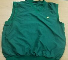 Masters Collection Golf Wind Vest Men's XL  Augusta National Green EUC