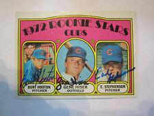 1972 Topps # 61 Bert Hooton Gene Hiser Earl Stephenson Autograph Card Cubs (C19)