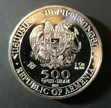 2016 Noah's Ark Collectible Coin Republic Of Armenia  1Troy Oz.999 Fine Silver