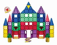 Playmags 3D Magnetic Blocks For Kids  Set of 100 Blocks to Learn Shapes,