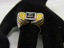 925er Silber Damenring von Gazelle m Granat Ringgroße 59,5 Gewicht 11 Gramm