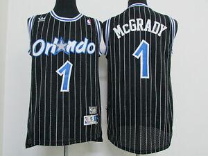 New Orlando Magic #1 Tracy McGrady Retro Swingman Basketball Jersey Black