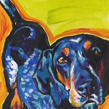 "Bluetick coonhound print of pop art Painting colorful Dog portrait 12x12"""