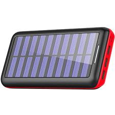 Solar Charger, BERNET 24000mAh Portable Solar Power Bank with 2 Input Ports(Lig