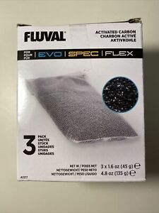 Fluval Spec Replacement Carbon  3 Pack : New Free Shipping.