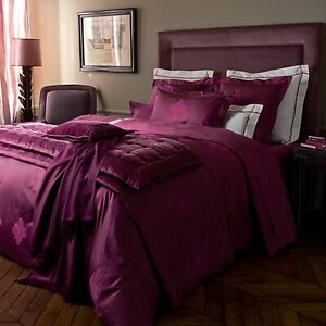 $310 Yves Delorme 2 King Shams Cases Reflet Rubino Cotton Jacquard Sateen NWT