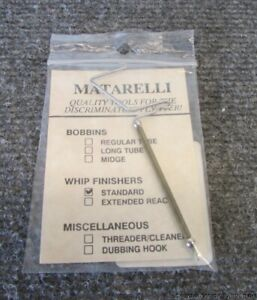Genuine Vintage Matarelli Whip Finisher for Fly Tying Original Package / Papers