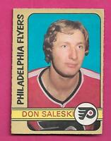 1972-73 OPC # 213 FLYERS DON SALESKI  HIGH # ROOKIE EX+  CARD  (INV# D0788)