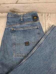 Ralph Lauren Polo Jeans Mens Carpenter Pants Blue Denim Size 38x32