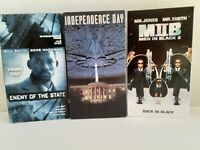 Will Smith - VHS Lot - Independence Day, Enemy of the State, Men in Black ll.