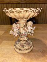 Cherub Bowl Victorian Style Ceramic Figure Cherub (wings chipped missing)