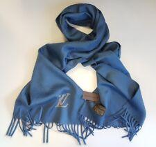 LOUIS VUITTON 100% Cashmere scarf Jhelam Stole Blue Mint Condition R.P. 650 Euro