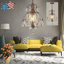 Rustic Crystal Chandelier Antique Vintage Lighting Light Fixture Hanging*Pendant