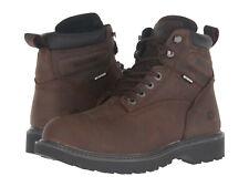 "Wolverine Floorhand 6"" Leather WaterProof Work Boot Soft Toe D. Brown W10643 Men"