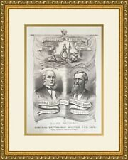 Grand National Liberal Republican Banner for 1872 Campaign Poster Framed Repro