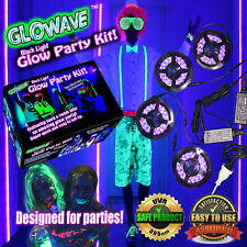 Black lights for HALLOWEEN decorations 4 long LED UV lights w spider webs