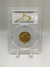 2016-W US Gold Standing Liberty Quarter 1/4th Ozt Gold PCGS SP69 100th Anniv.