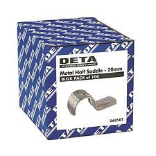 Deta METAL CONDUIT HALF SADDLE 20mm 100Pcs, Zinc Plated Steel - Australian Brand