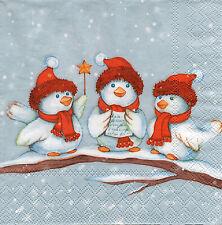 4 Servietten Motivservietten Decoupage Weihnachten Vögel auf Ast (1296)