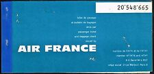 AIR FRANCE AIRLINES FRANCE AVIATION PASSENGER TICKET 1961 #5