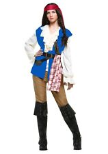 Ladies Pirate Costume Adult Womens Captain Buccaneer Pirate Fancy Dress Outfit