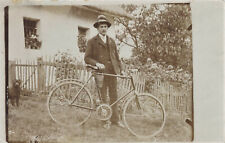 Vintage Photo Foto antique bicycle velo ancien Fahrrad Attila Rad Portrait 1917