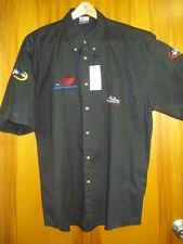 Monaco Grand Prix Sporty Logo Monogrammed Short Sleeve Black Shirt- Euro size Xl