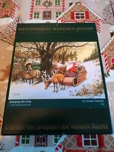 Jumping The Gun Christmas Wentworth Wooden Jigsaw Puzzle 250 Piece Santa Claus