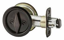 Kwikset  Round Bed/Bath Pocket Door Lock  Metal  Indoor  Venetian Bronze