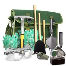 Rock Hounding & Gem Mining Geology Tool Kit 12-Pc Rock Prospecting Set w/Rock 3