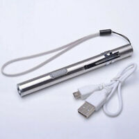 Waterproof LED Flashlight With Whistle Emergency Pen Lights Mini Survival Torch